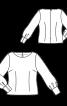 Блузка приталеного крою з вирізом-човником - фото 3