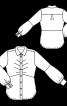 Блузка-сорочка з косими виточками - фото 3