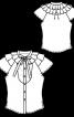 Блузка приталеного крою з пластроном - фото 3