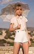Блузка приталеного крою з пластроном - фото 1