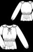 Блузка приталеного крою з плечовими кокетками - фото 3