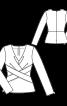 Блузка приталена з перехресними планками - фото 3