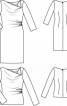 Блуза приталеного крою з довгими рукавами - фото 3