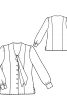 Блузка приталеного крою із зав'язками - фото 3