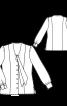 Блузка приталена і з рукавами на манжетах - фото 3