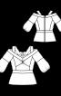 Блузка з баскою і глибоким вирізом - фото 3