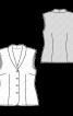 Блузка-жилет із шалевим коміром - фото 3