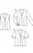 Блузка-жилет із шалевим коміром - фото 5