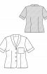 Блузка-жакет з короткими рукавами - фото 3