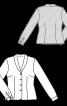 Блузка-жакет з шалевим коміром - фото 3