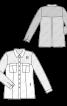 Блузка-сорочка зі складкою на спинці - фото 3