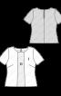 Блузка з мереживною вставкою спереду - фото 3