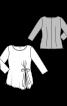 Блузка приталеного силуету з драпіровкою - фото 3
