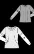 Блузка комбінована приталеного силуету - фото 3