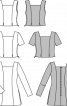 Туніка приталеного крою з вирізом каре - фото 3