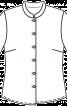 Блузка приталеного крою з рукавами 3/4 - фото 3
