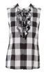 Блузка приталеного крою без рукавів - фото 2