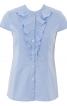 Блузка приталена з оборками і коміром-стійкою - фото 2