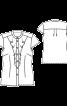 Блузка приталена з оборками і коміром-стійкою - фото 3