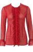 Блузка з потайною застібкою і оборками - фото 2