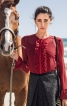 Блузка з потайною застібкою і оборками - фото 1