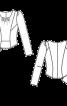 Блузка тюлева приталеного силуету - фото 3