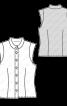Топ сорочкового крою з коміром-стойкою - фото 3