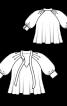 Блуза розкльошеного крою з рукавами реглан - фото 3