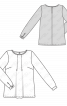Блузка зі складками біля горловини - фото 3