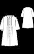 Блуза-сорочка з декоративними складками - фото 3