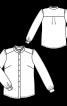 Блузка сорочкового крою з оборками - фото 3