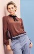 Блузка сорочкового крою з оборками - фото 1