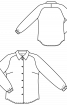 Блузка-сорочка з рукавами реглан-погон - фото 3
