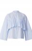 Блуза сорочкового крою з максі-оборками - фото 2