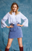 Блуза сорочкового крою з максі-оборками - фото 1