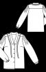 Блузка прямого крою зі складками на рукавах - фото 3