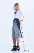 Блузка прямого крою зі складками на рукавах - фото 4