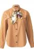 Блузка сорочкового крою зі знімним шарфом - фото 2