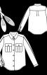 Блузка сорочкового крою зі знімним шарфом - фото 3
