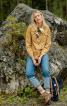 Блузка сорочкового крою зі знімним шарфом - фото 1