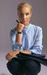 Блуза-сорочка з коміром-стойкою - фото 1