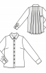 Блуза-сорочка з оригінальною спинкою - фото 3