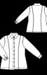 Блузка-рубашка джинсовая с рельефными швами - фото 3