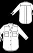 Блуза сорочкового крою з рукавами 3/4 - фото 3