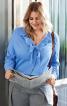 Блузка сорочкового крою з воланами - фото 1