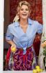 Блузка сорочкового крою з короткими рукавами - фото 1