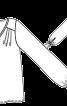 Блузка сорочкового крою на кокетці - фото 3