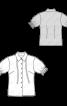 Блузка-сорочка приталеного силуету з короткими рукавами - фото 3