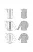 Блуза-сорочка із фігурними защипами - фото 5