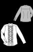 Блуза-сорочка із фігурними защипами - фото 3